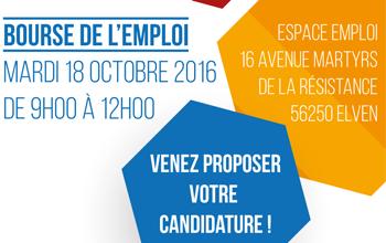 Bourse de l'emploi Mardi 18 Octobre 2016