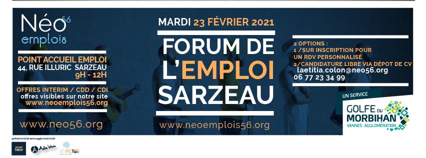 forum emploi sarzeau 2021